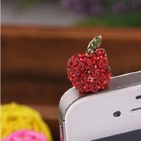 Apple Earphone Jack Dust Plug Accessories - Red