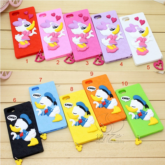 Cute Donald Duck TPU Case For Samsung Galaxy S5