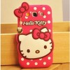 Cute Hello Kitty Polkadot TPU Case for Samsung Galaxy S5 - Pink