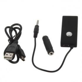 Universal Wireless Stereo Audio Receiver 3.5mm Bluetooth 2.0 - Black - 2