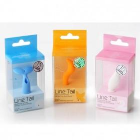 Line Tail Earphone Jack Plug Accessories - Orange
