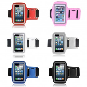 Neoprene Material Sports Armband Case with Key Storage for iPhone 4/4s - ZE-AD204 - White