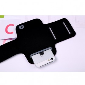 Neoprene Material Sports Armband Case with Key Storage for iPhone 5/5s/SE - ZE-AD205 - Red - 2