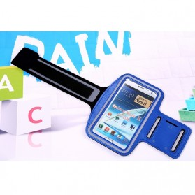 Neoprene Material Sports Armband Case with Key Storage for Samsung Galaxy Note  2/3 - ZE-AD207 - Dark Blue - 1