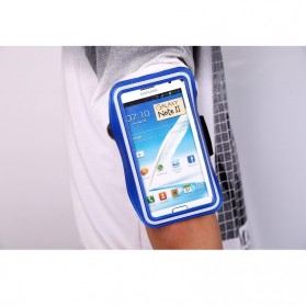 Neoprene Material Sports Armband Case with Key Storage for Samsung Galaxy Note  2/3 - ZE-AD207 - Dark Blue - 3