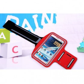 Neoprene Material Sports Armband Case with Key Storage for Samsung Galaxy Note  2/3 - ZE-AD207 - Red