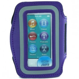 Neoprene Material Sports Armband Case with Key Storage for iPod Nano 7th Generation - ZE-AD208 - Dark Blue