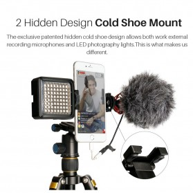 Ulanzi Smartphone Tripod Mount Clipper dengan 2 Cold Shoe - ST-05 - Black - 6