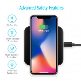 CHOETECH Qi Wireless Charger Fast Charging 5W - Black - 4