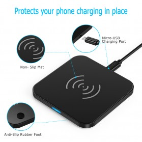 CHOETECH Qi Wireless Charger Fast Charging 5W - Black - 5