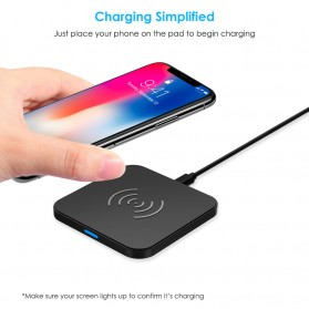 CHOETECH Qi Wireless Charger Fast Charging 5W - Black - 6