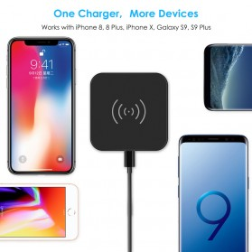 CHOETECH Qi Wireless Charger Fast Charging 5W - Black - 7