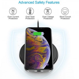 CHOETECH Qi Wireless Charger Fast Charging 10W - T526-S - Black - 4