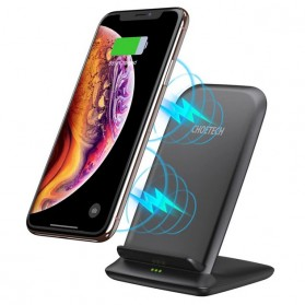 CHOETECH Qi Wireless Charger Stand Fast Charging 7.5W - T555-S - Black - 4