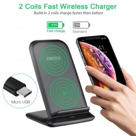 CHOETECH Qi Wireless Charger Stand Fast Charging 7.5W - T555-S - Black - 6