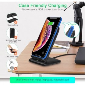 CHOETECH Qi Wireless Charger Stand Fast Charging 7.5W - T555-S - Black - 7