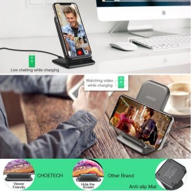 CHOETECH Qi Wireless Charger Stand Fast Charging 7.5W - T555-S - Black - 8