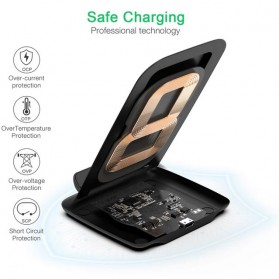 CHOETECH Qi Wireless Charger Stand Fast Charging 7.5W - T555-S - Black - 9