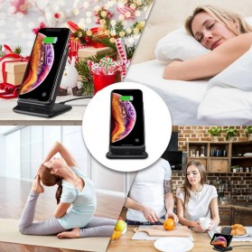 CHOETECH Qi Wireless Charger Stand Fast Charging 7.5W - T555-S - Black - 10