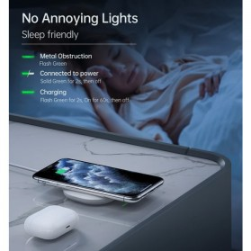 CHOETECH Fast Wireless Charger Pad Smartphone Airpods QC 3.0 15W - T550F - White - 2