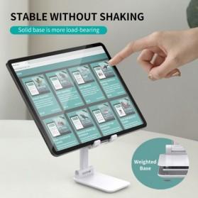 CHOETECH Foldable Smartphone Tablet Stand Holder - H88 - Black - 6