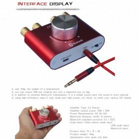 Mogu Audio Bluetooth Receiver Stereo Amplifier 50W+50W - F900 - Golden - 3