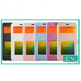 Taff Leather Flip Window Case for Xiaomi Redmi 2 / Redmi 2 Prime - Black