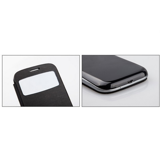 Taff Leather Flip Double Window Case For Samsung Galaxy S5