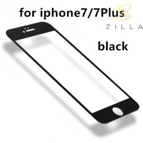 Zilla 3D Carbon Fiber Tempered Glass Curved Edge 9H for iPhone 7/8 - Black