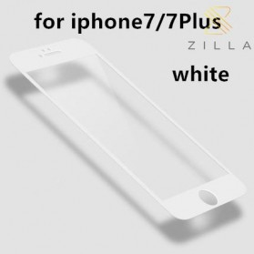 Zilla 3D Carbon Fiber Tempered Glass Curved Edge 9H for iPhone 7/8 - White