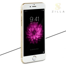 Zilla 3D Carbon Fiber Tempered Glass Curved Edge 9H for iPhone 6/6s - White