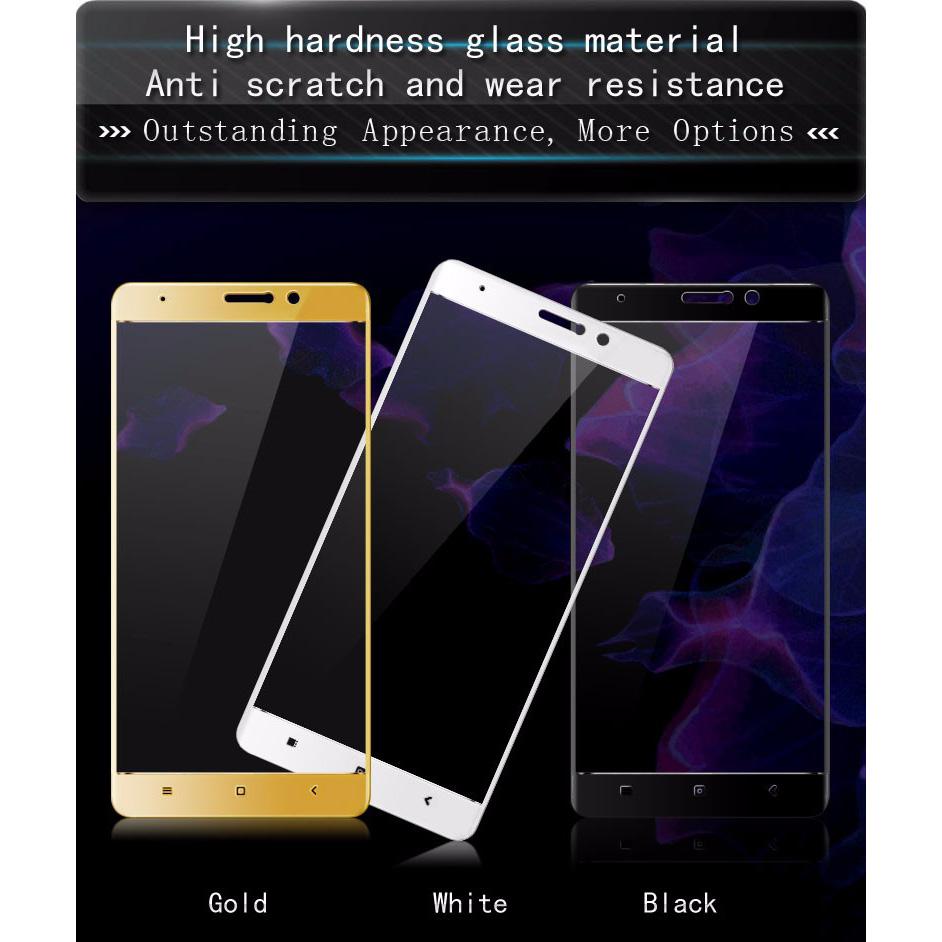 Zilla 3d Carbon Fiber Tempered Glass Curved Edge 9h For Xiaomi Mi5s Full Screen Cover White Plus Black