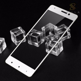 Zilla 3D Carbon Fiber Tempered Glass Curved Edge 9H for Xiaomi Mi5s Plus - White