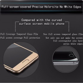 Zilla 3D Carbon Fiber Tempered Glass Curved Edge 9H for Xiaomi Mi5s Plus - White - 3