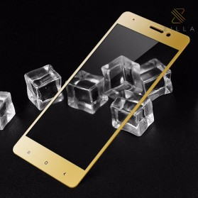 Zilla 3D Carbon Fiber Tempered Glass Curved Edge 9H for Xiaomi Mi5s Plus - Golden