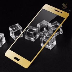 Zilla 3D Carbon Fiber Tempered Glass Curved Edge 9H for Xiaomi Mi5s - Golden