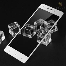 Zilla 3D Carbon Fiber Tempered Glass Curved Edge 9H for Xiaomi Redmi Note 4x - White