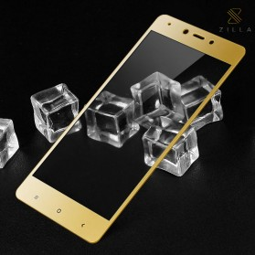 Zilla 3D Carbon Fiber Tempered Glass Curved Edge 9H for Xiaomi Redmi Note 4x - Golden
