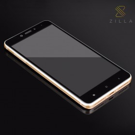 Zilla 3D Carbon Fiber Tempered Glass Curved Edge 9H for Xiaomi Redmi Note 4 Mediatek - Black