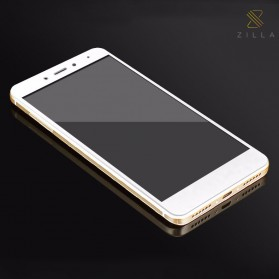 Zilla 3D Carbon Fiber Tempered Glass Curved Edge 9H for Xiaomi Redmi Note 4 Mediatek - White