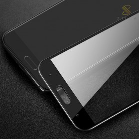 Zilla 3D Carbon Fiber Tempered Glass Curved Edge 9H for Xiaomi Mi5c - Black