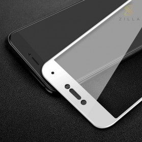 Zilla 3D Carbon Fiber Tempered Glass Curved Edge 9H for Xiaomi Mi5c - White