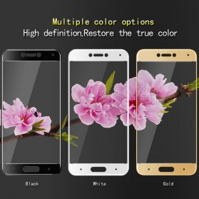 Zilla 3D Carbon Fiber Tempered Glass Curved Edge 9H for Xiaomi Mi5c - White - 4