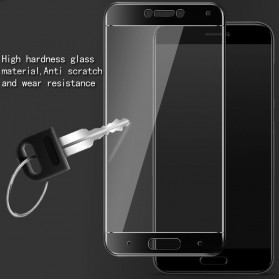 Zilla 3D Carbon Fiber Tempered Glass Curved Edge 9H for Xiaomi Mi5c - White - 5