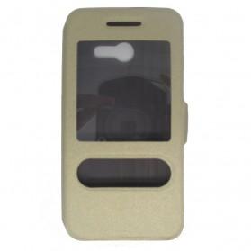 Taff Leather Flip Case Asus Zenfone 4 - Golden - 2