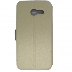 Taff Leather Flip Case Asus Zenfone 4 - Golden - 3