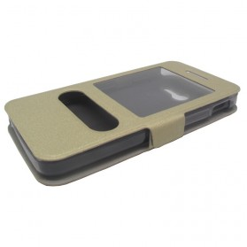 Taff Leather Flip Case Asus Zenfone 4 - Golden - 4