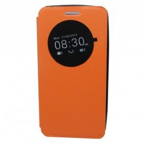 Taff Leather Flip Case Asus Zenfone 5 - Orange