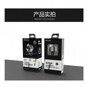 Yopin Bluetooth FM Transmitter Handsfree dengan USB Car Charger 2 Port 3.1A - GC-11 - Black - 5