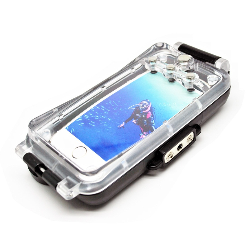 newest 79daf d3388 Underwater Waterproof Case IPX8 40m for iPhone 6 - Black ...
